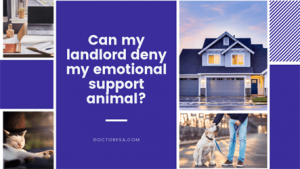 Can my landlord deny my emotional support animal?