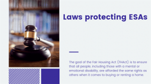 Laws protecting ESAs