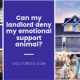1 Can my landlord deny my emotional support animal?