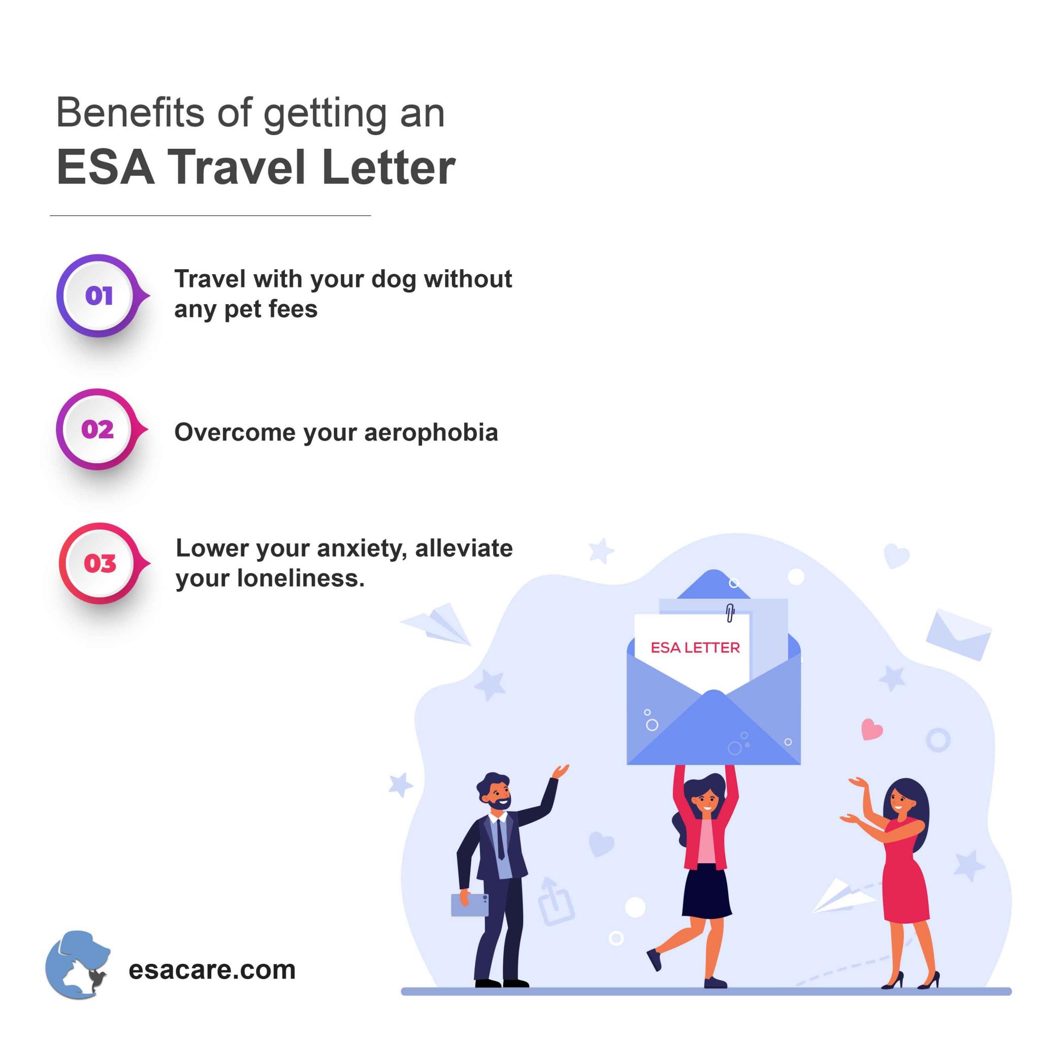 ESA travel letter