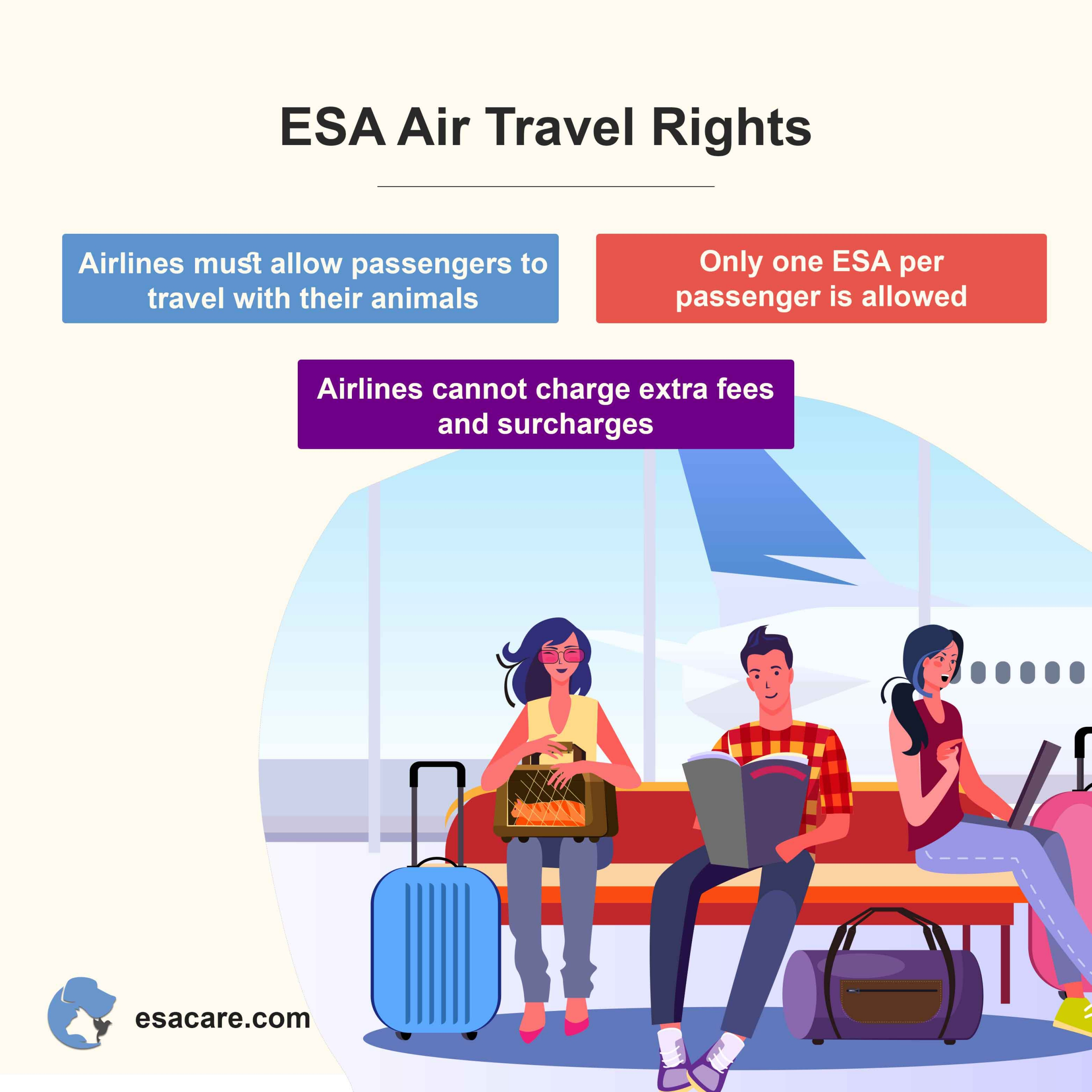 esa air travel rights