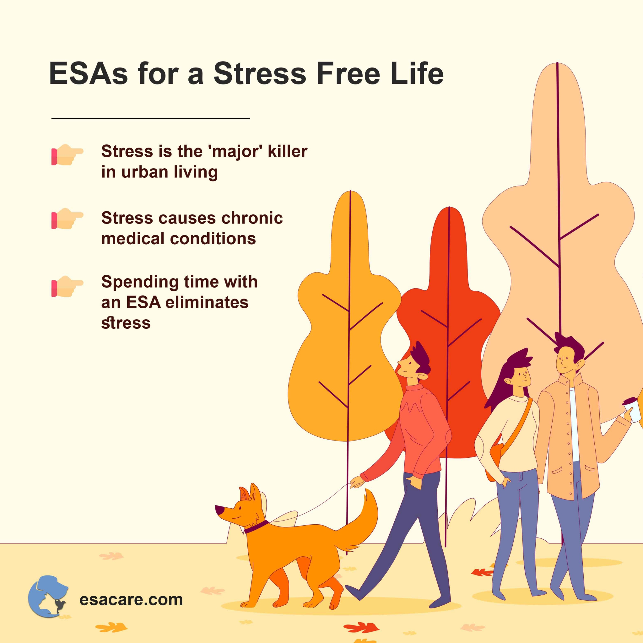 Emotional support animals stress