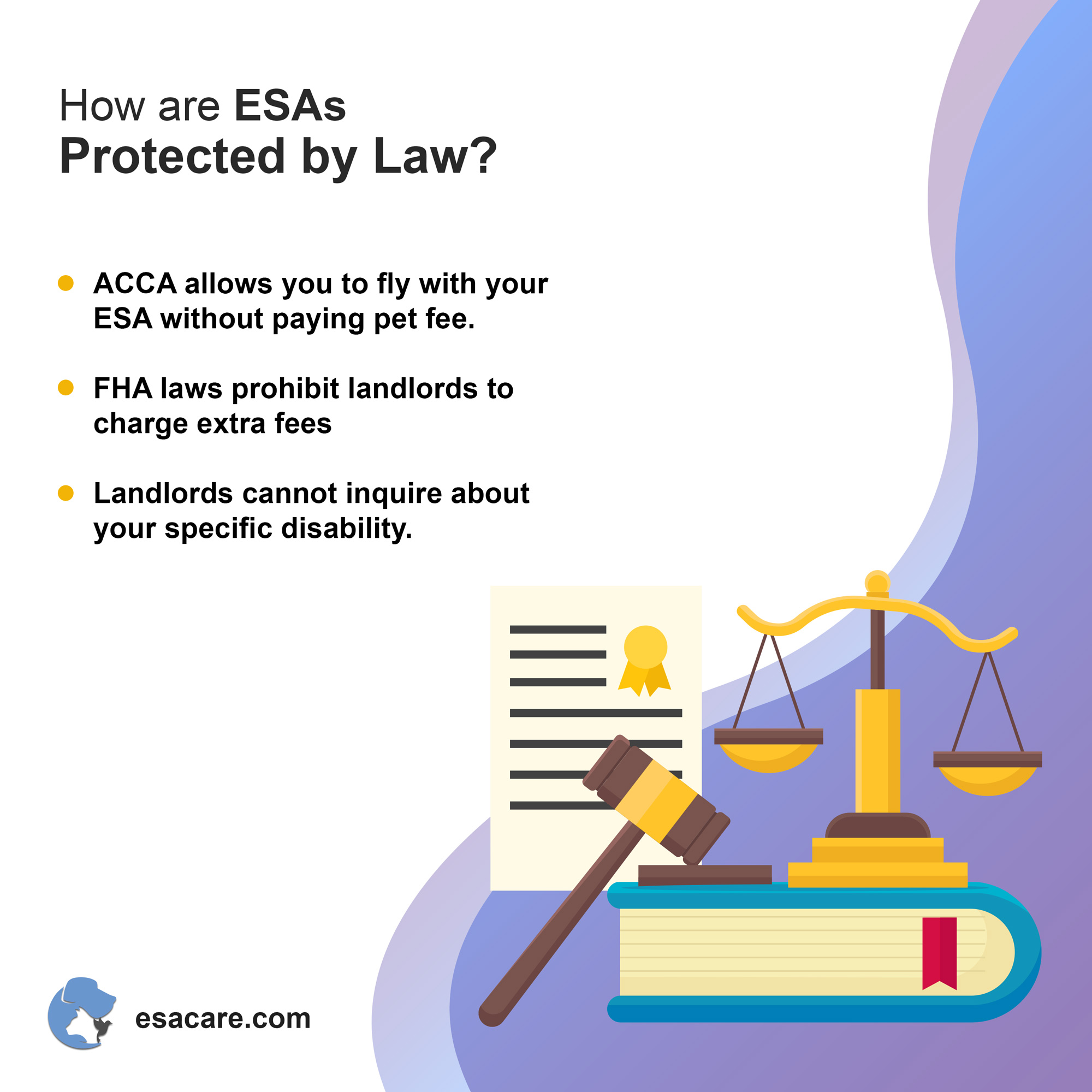 Get an ESA legally