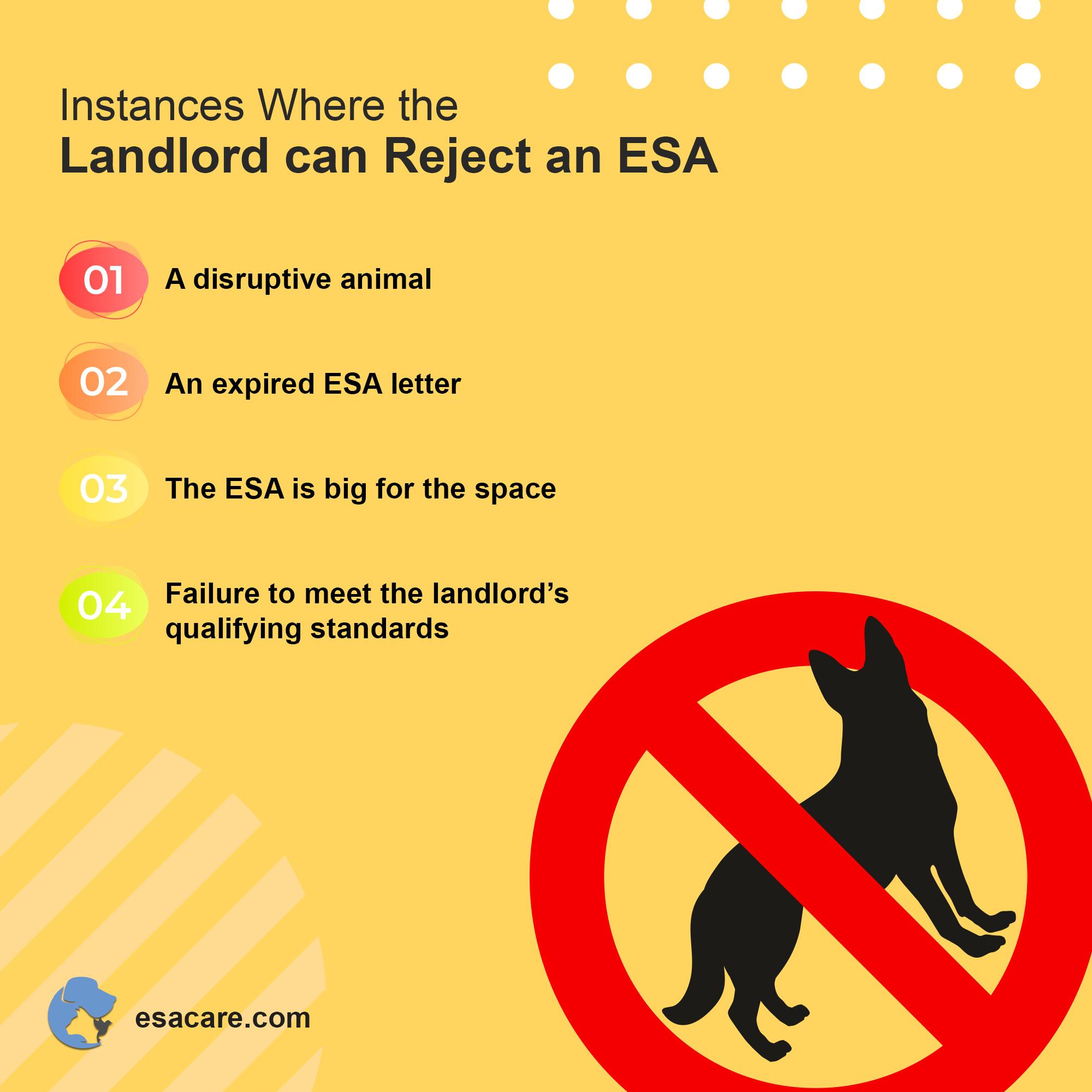 ESA landlord rejection